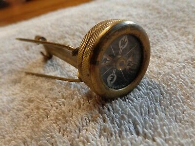 Marble Arms Compass + Brass Early 1920's + Pin-on Long Stem Tang Coat Lapel