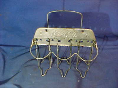 1930s COCA COLA Advertising Metal + WIRE 6 PACK CARRIER Hedlen Mod B6CC