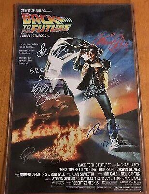 Back to the Future Poster Signed by Michael J. Fox, Christopher Lloyd & MORE