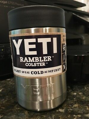 "Yeti Rambler Colster ""Best Koozie Ever""Can and Bottle Holder Stainless No Sweat!"