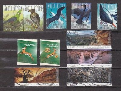 South Africa recent 11 used stamps 2009 2011 2013 International rate