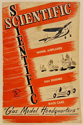 "1940 Scientific Gas Model Headquarters"" Catalog #11, Model Airplanes, Race Cars"