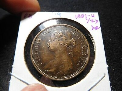 J119 Great Britain 1881-H 1/2 Penny XF