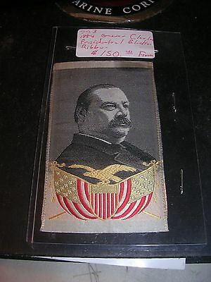 1884 Presidential Ribbon Grover Cleveland