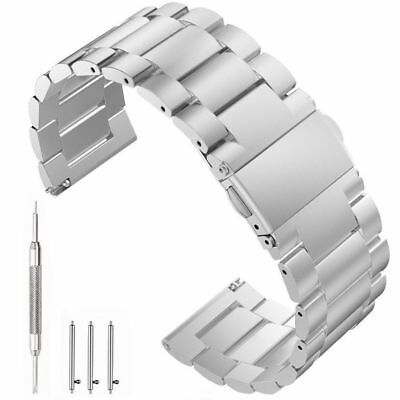 Stainless Steel Metal Strap Watch Band For Samsung Gear S3 Replace Silver 22MM