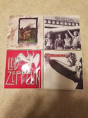 Led Zeppelin Themed 4x4 Ceramic Coasters Handmade