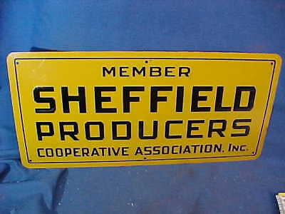 Vintage SHEFFIELD MILK PRODUCERS Co-Op TIN Advertising SIGN