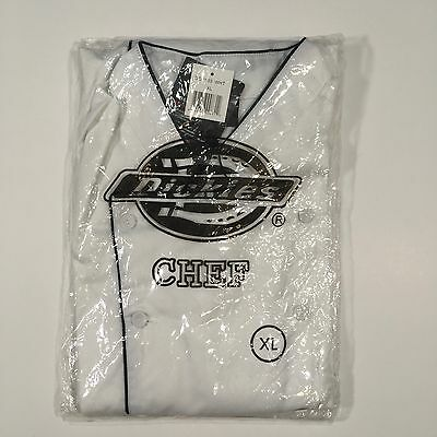 Men's Dickies Executive Chef Coat DCP103 Double Breasted White Size XL
