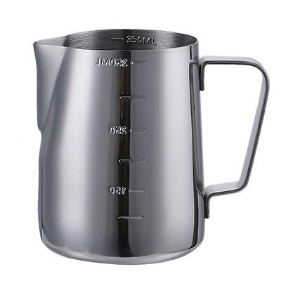 350ml 900ml Milk Jug Frothing Cup Pitcher Stainless Steel Latte Cappuccino Mugs