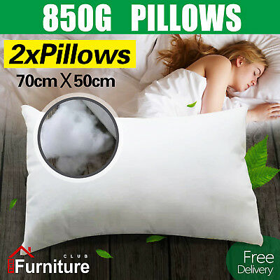 2 Bed Pillows Medium Firm with Premium Polyester Fibre Filling  Free Delivery
