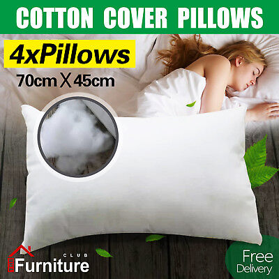4 Bed Pillows Medium Firm with Premium Polyester Fibre Filling  Free Delivery