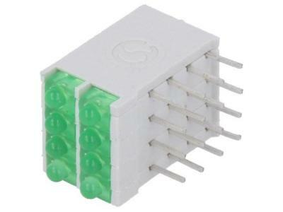 DBI04322 LED in housing green 1.8mm No.of diodes8 10mA 38° 2.1V