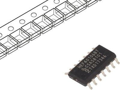 10x HEF40106BT.653 IC digital inverter, Schmitt trigger Channels6 CMOS SMD