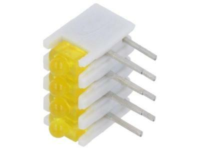 ZSU0431 LED in housing yellow No.of diodes4 20mA 38° 2.1V 25mcd