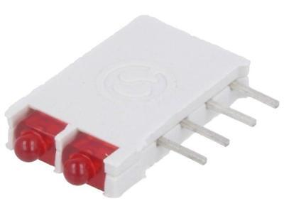 DBI01300 LED in housing red 1.8mm No.of diodes2 10mA 38° 2V 25mcd