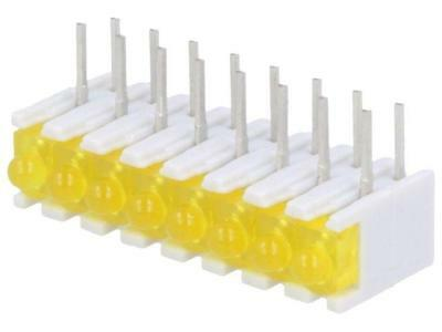 ZSU0831 LED in housing yellow No.of diodes8 20mA 38° 2.1V 25mcd