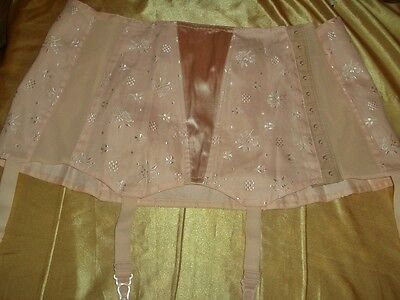 RAR Vintage Triumph Achat Hüfthalter Straps Gr. 94 rose Pin Up Girdle   (K154)