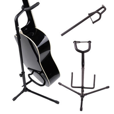 New Black On Stage Folding Stands Single Guitar Bass Stand