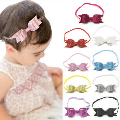 Toddler Baby Girl Bow Flower Hair Accessories Hairband Elastic Band Headband New