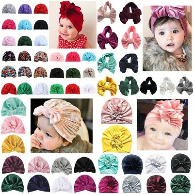 Toddler Kids Girls Boys Bandana Turban Head Scarf Cap Cotton Headband Beanie Hat