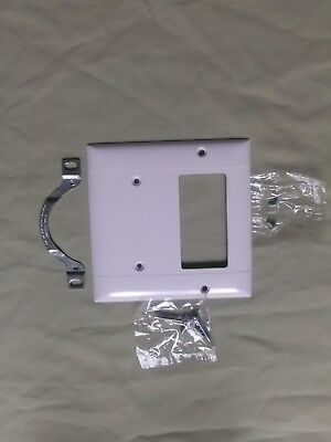 White Gfci Gfi Outlet Cover Blankstrap Mount Wall Plate