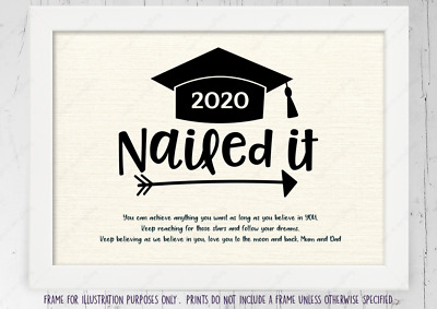 Graduation 2019 Personalised Canvas Wall Art Gift Present! Students! Print Frame