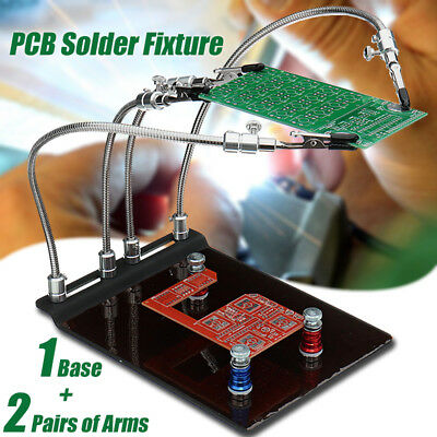 YP-004 PCB Fixture Base Arm Soldering Station 4 Flexible Arms +3 Magnetic Column