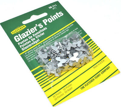 FLETCHER PUSH POINTS x 50 TABS PICTURE FRAME FRAMING WINDOW GLAZING GLAZIER'S