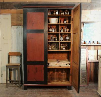 Painted Old German Post Office Cupboard Shop Cabinet  Vintage Apothecary Chippy