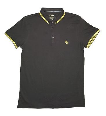 Unbranded Mens Tipped  Polo Black _ESP1_