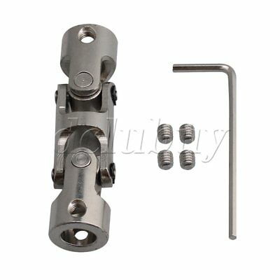 8-8mm Steel Three-section Universal Joint Connector Coupler 14mm OD
