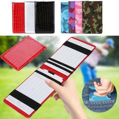 Golf Scorecard Training Playing Notebook Tracking Score Booklet With Pencil SA
