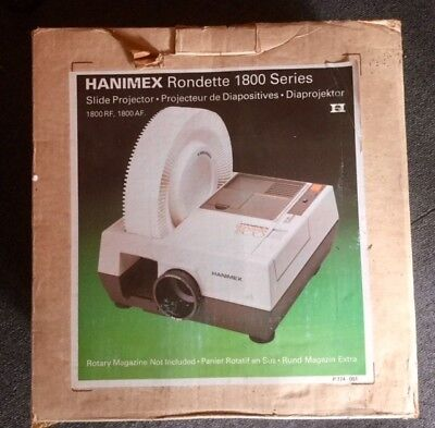 Hanimex Rondette 1800 S Slide Projector With instructions and original box