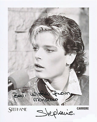 PRINCESS STEPHANIE OF MONACO Autogramm original signiert Foto 20x25