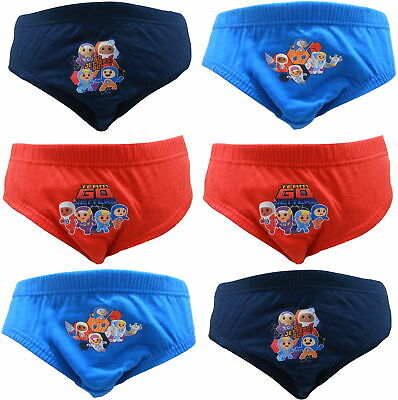 """Go Jetters Boys """"Team Go!"""" 6 pack Briefs Underpants"""