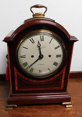 maple & co double fusee mahogany pad top bracket clock