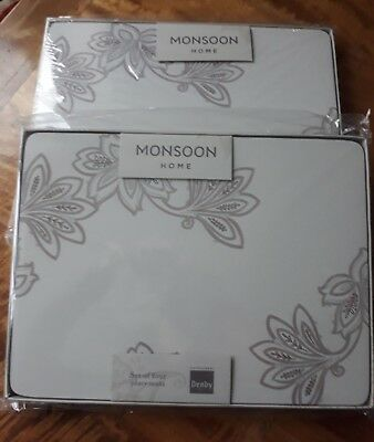 Denby Monsoon Chantilly Placemats x 8 *New in Packaging*