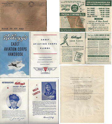 1938 Papers For Howie Wing Radio Show Kellog's Aviation Handbook & Baseball Poll