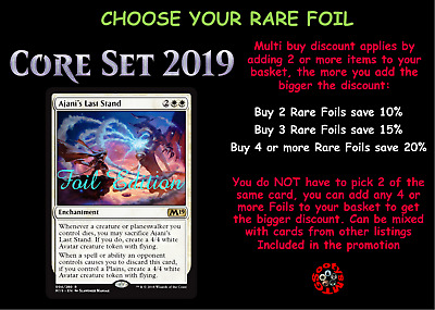 MTG Core Set 19 M19 Choose your Rare Foil - In Stock - Buy 2 save 10%