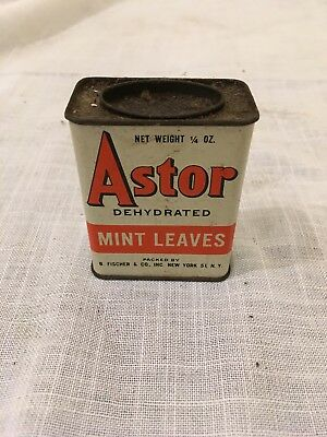 ASTOR BRAND Mint Leaves SPICE TIN, FISCHER CO. NEW YORK