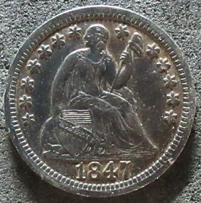 1847 Seated Liberty Half Dime Coin