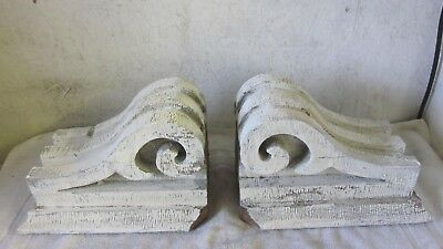 2 Antique Detailed Solid Victorian Brackets Architectural Salvaged Corbels