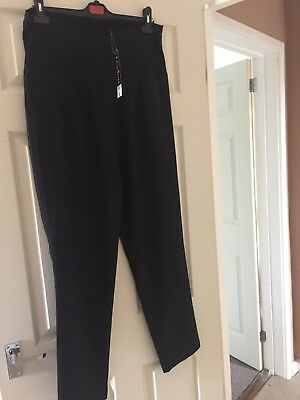George At Asda Maternity Black Trousers 14