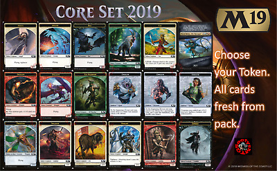 MTG Core Set 19 M19 Choose your Token - In Stock - Buy 2 save 10%