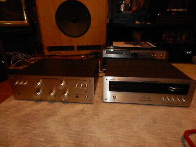 Vintage Marantz 110 Tuner and 1030 Amplifier- Champagne Face