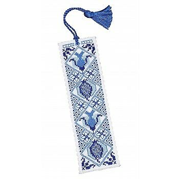 Delft Blue Bookmark Counted Cross Stitch Kit by Textile Heritage