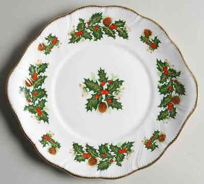 Rosina Queens YULETIDE (SCALLOPED) Handled Cake Plate 5968777
