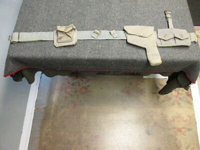 Wwii British Raf (Royal Air Force) Belt, Holster & Pouch Set-Dated 1942
