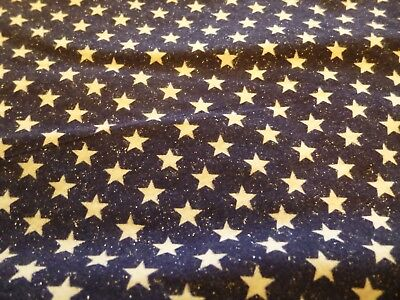 """Starry Night / Patriotic Square Dance Skirt Size M/L, 21"""" Long, Navy w White"""