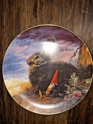 """Rein Poortvliet collectible #3 Fall """"The Lookouts"""" plate"""